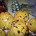 Cookies aux pépites de chocolat, pour le père noel