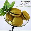 Macarons au chocolat parfum menthe bergamote