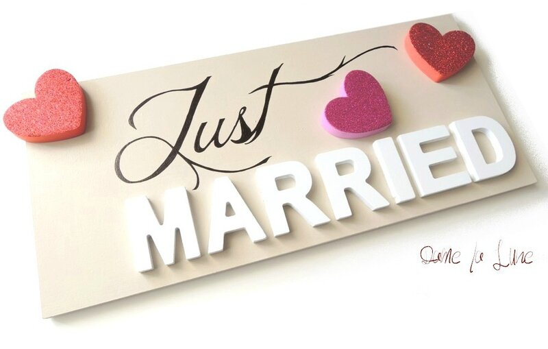plaque immatriculation_just_married_personnalisable_mariagedecoar@gmail