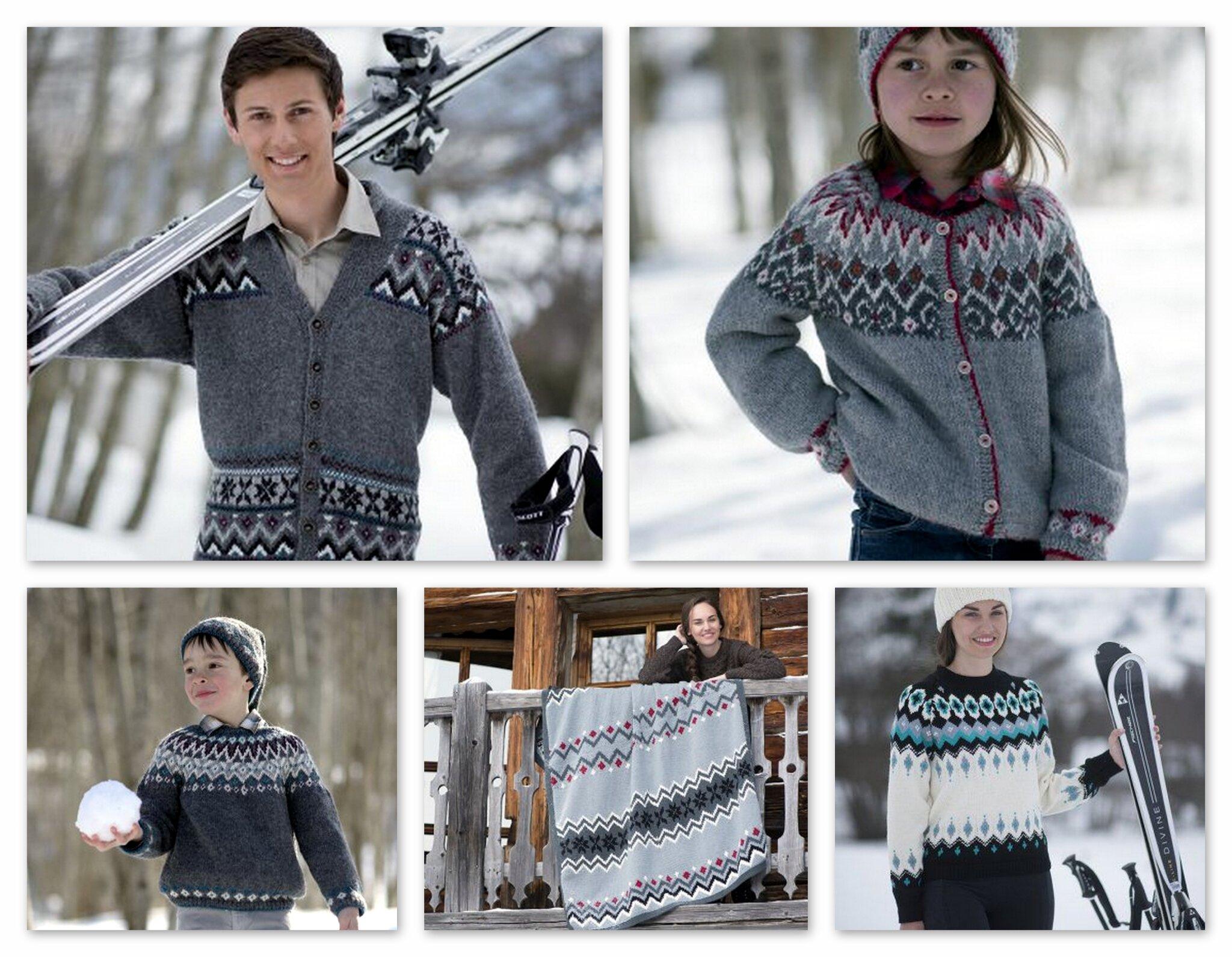 Modèles de tricot en jacquard islandais