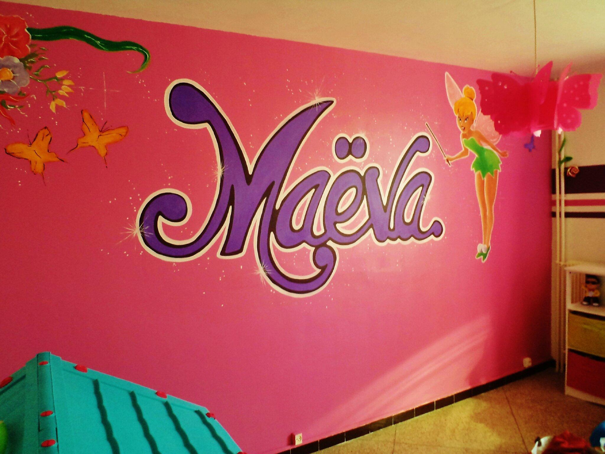 chambre d enfant fée clochette de fresques et vitrines