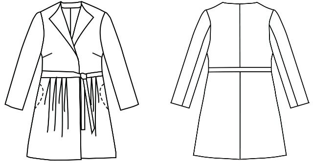 Simple Sew Patterns - Trench Coat