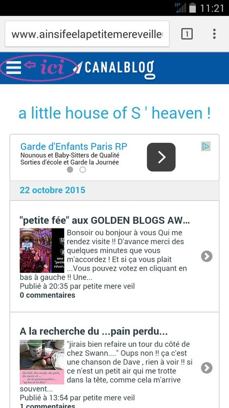golden blog mode d emploi 1er