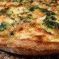 Tarte Saumon , épinards et amandes