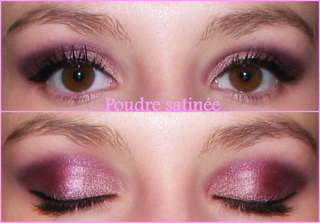 Maquillage yeux marron et rose - Maquillage de soiree yeux marron ...