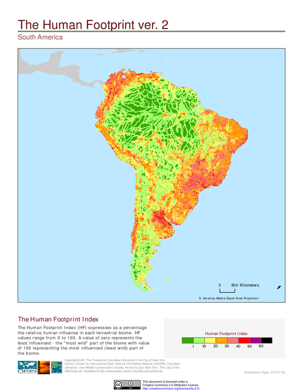 Human Footprint South America