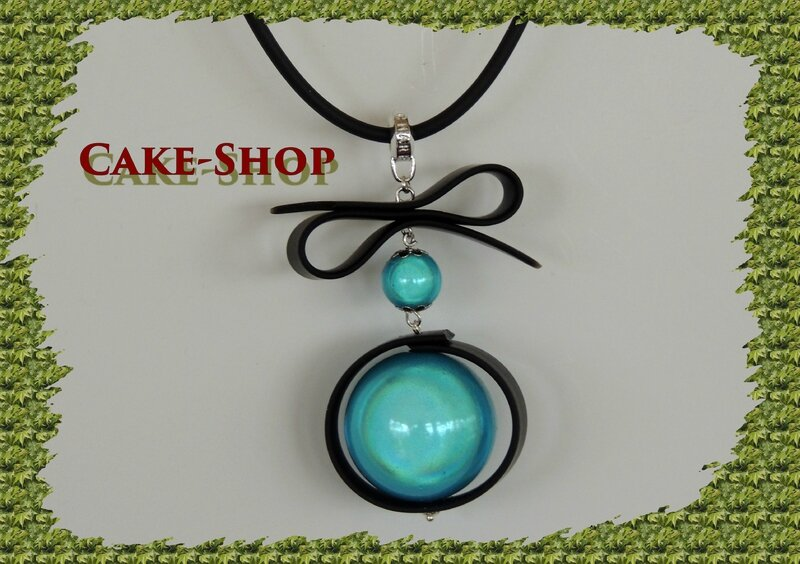 Collier perle turquoise et noeud1