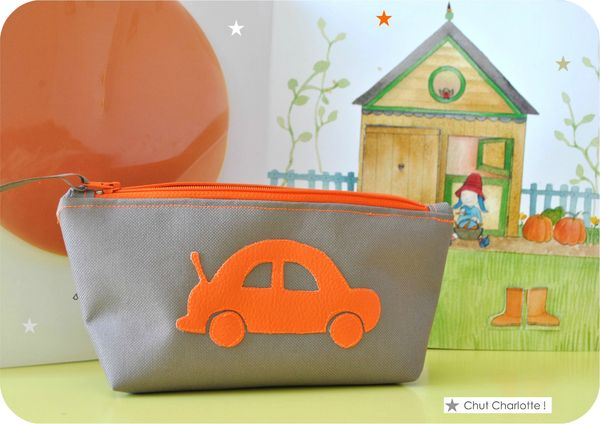 Trousse Voiture Orange Chut Charlotte