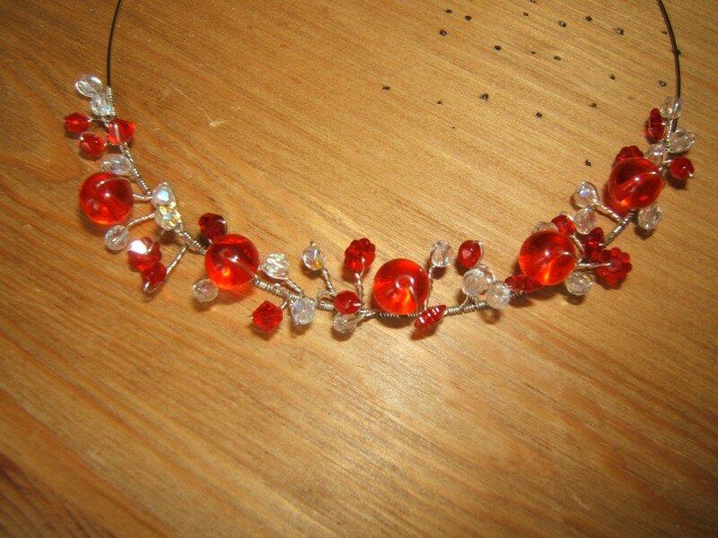 Perles de verre et fil mémoire
