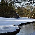 Aisne : neige et ciel bleu