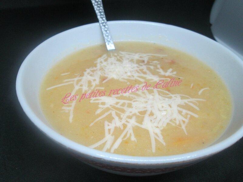 Soupe carottes, chou blanc, pommes de terre et lardons29