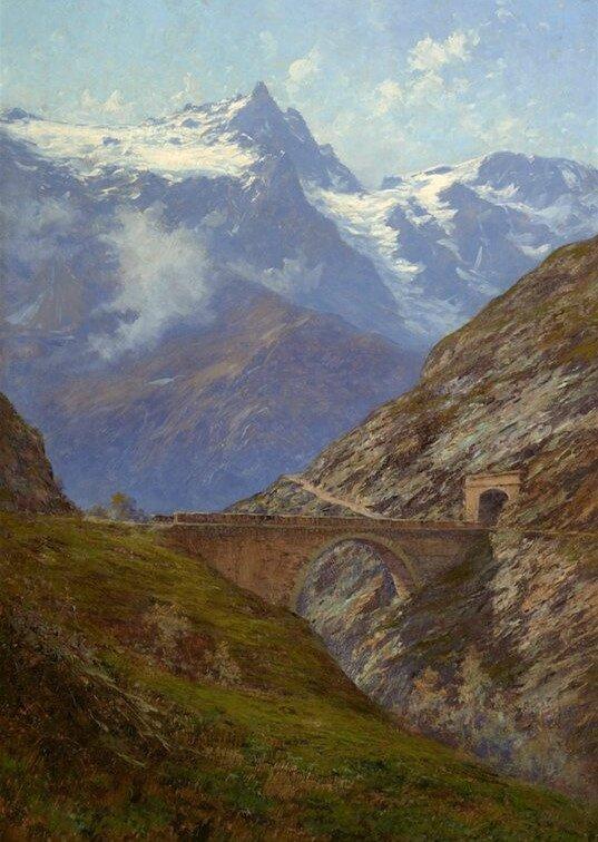 La Meije et le pont Maurian, Charles Bertier