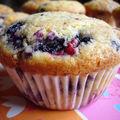 Muffins myrtilles framboises