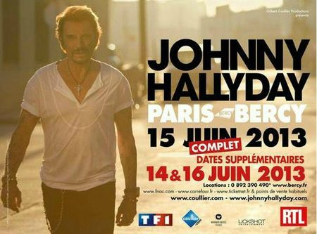 dates des concerts 2014 de Johnny