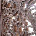 Detail de sculpture sur pierre a Orchha