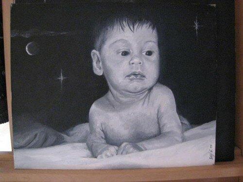 portrait de mon 1er enfant,il y a 9 ans dejà!