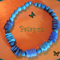 Collier bleu serpentins