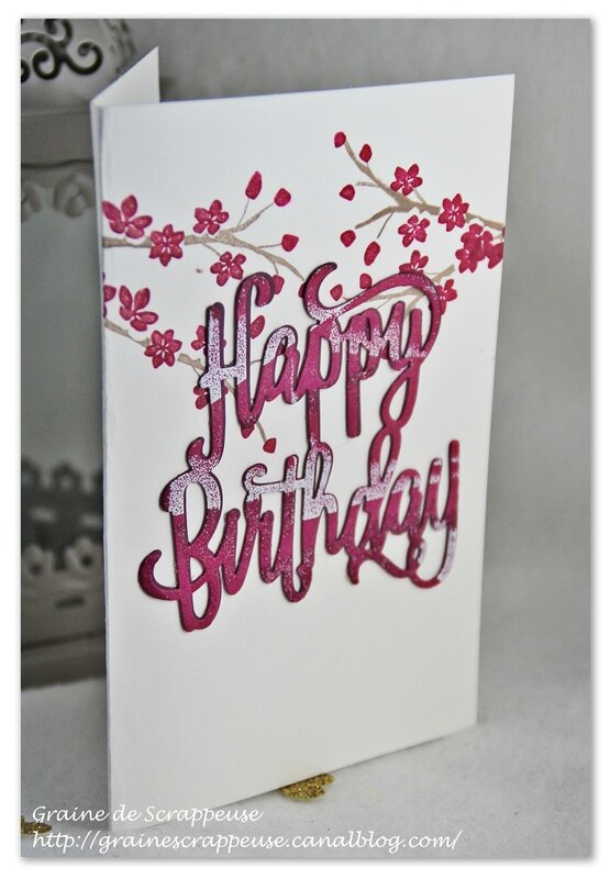 Carte Happy Birthday Stampin'up