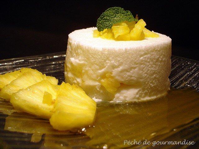 cr 232 met 224 l ananas et coulis d orange p 233 ch 233 de gourmandise