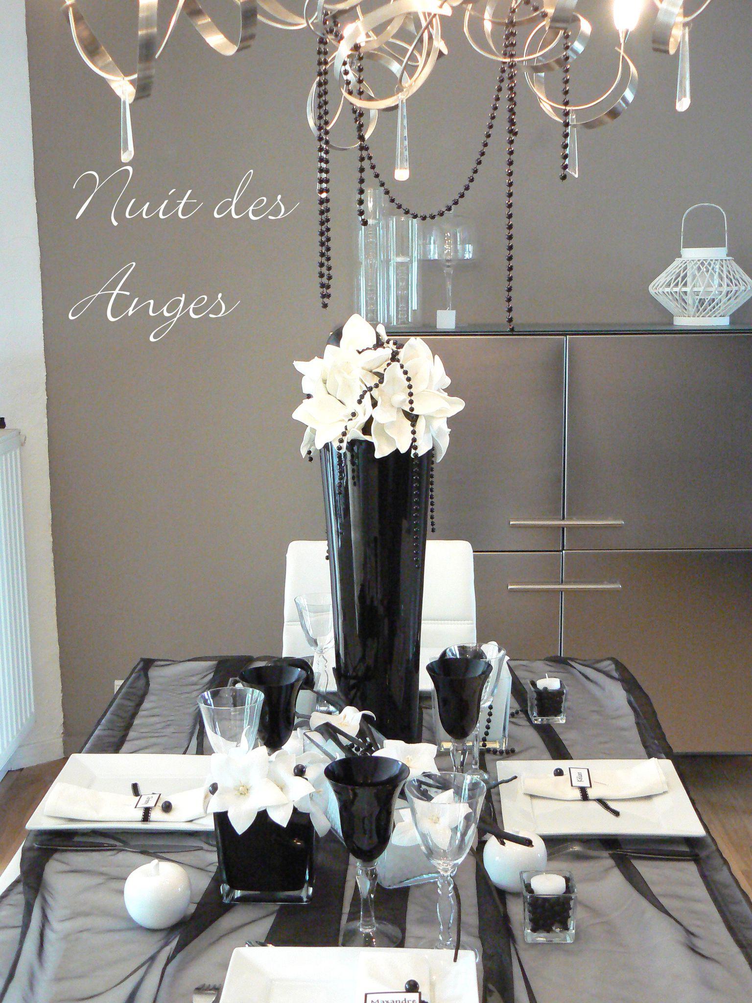 Nuit des anges d coratrice de mariage d coratiojn de table for Decoration noir et blanc