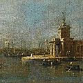 Francesco guardi (venice 1712 – 1793), venice, a view of the punta della dogana