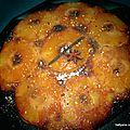 Gâteau renversé à l'ananas, caramélisé et moelleux, très facile