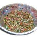 Salade de petit epeautre aux herbes