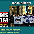 Paris : après la manifestation, un identitaire poursuivi et 14 antifas relâchés