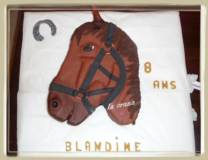 Gâteau tête de cheval/Horse head cake