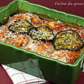 Gratin d'aubergines et quenelles de volaille