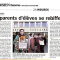 article le parisien 26 nov 08