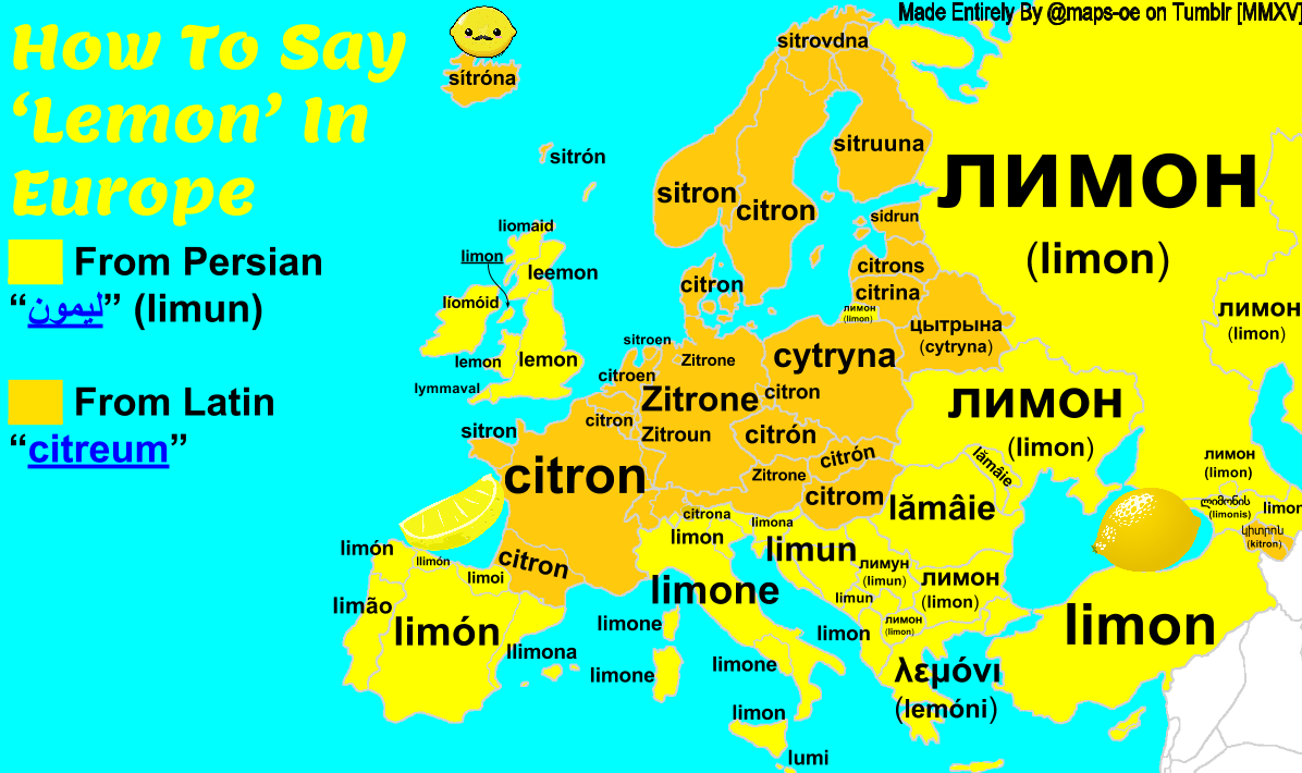 How To Say 'Lemon' In Many European Languages