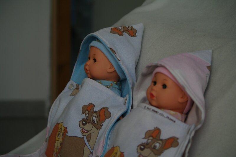 nid d'ange pour poupée
