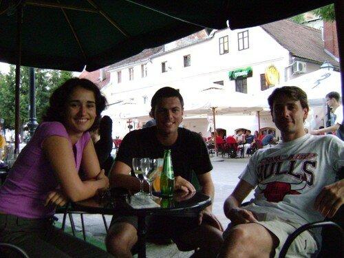 Croatie, Zagreb, rencontre avec Jo, Allan et une amie croate