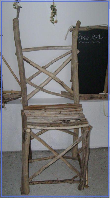 Cadre bois flott sable et coquillages les cr ations en - Chaise bois flotte ...