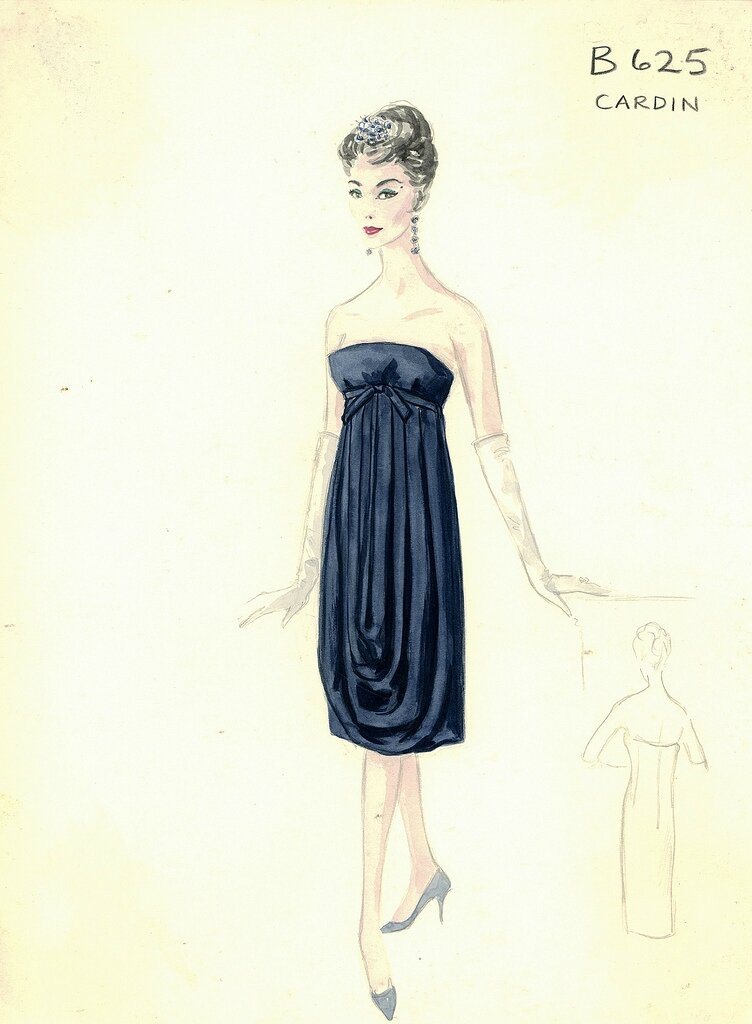 Bergdorf Goodman Archives. Coctail & Evening Dresses: Cardin