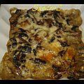 Gratin de champignon 5 pp la part recette 2 pers