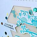 Shaker card d'anniversaire turquoise et or