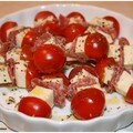Mini brochettes tomates cerises & mozza