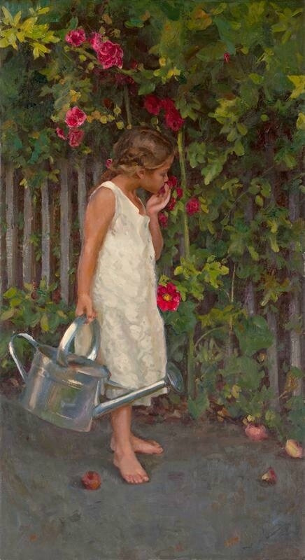 michael malm - girl in a garden