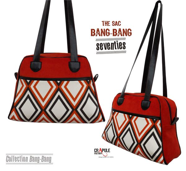 bang bang seventies velours simili cuir losange