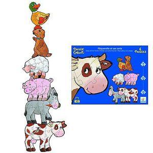 Boutique jeux de société - Pontivy - morbihan - ludis factory - Djeco puzzle paquerette et ses amis