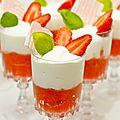 Verrine fraise rhubarbe