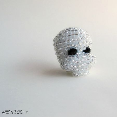 crane de cristal en perle crochet 2