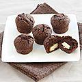 Mini muffins chocolat noir et blanc