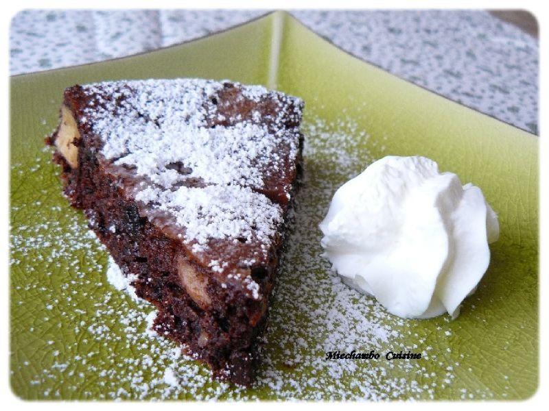Gâteau Meringué Au Chocolat et Pomme