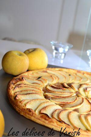 tarte aux pommes et pâte speculoos- dessert rapide