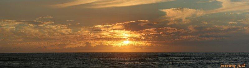 Coucher de Soleil, Etang Salé ; île de la Réunion