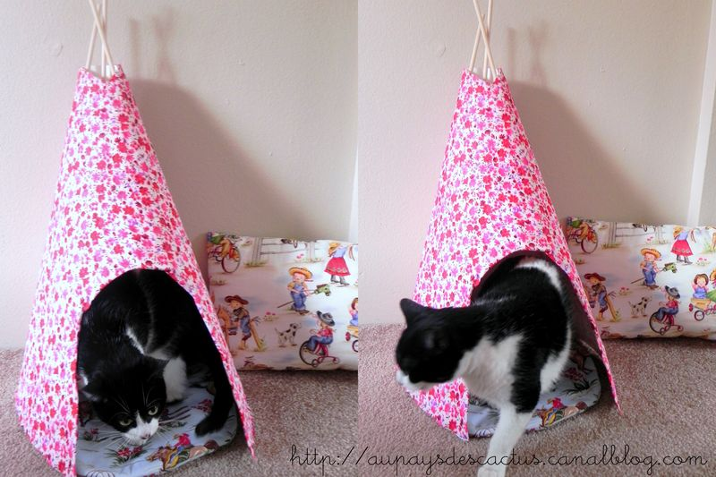 diy un tipi liberty pour chat au pays des cactus. Black Bedroom Furniture Sets. Home Design Ideas