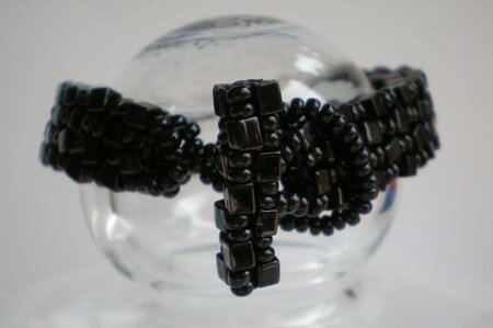 Foursquare_bracelet___black___ThatBeadLady